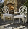 Sojourn Slip Upholstered Medallion Dining Arm Chair  - Summer White