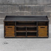 Ardusin Solid Wood Entryway Bench with Storage