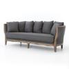 Hayes Wood Frame Sofa in Finn Charcoal