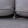Kensington Grey Linen Upholstered Chesterfield Sofa