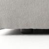 "Plume Upholstered Block Arm Pewter Grey Sofa 96"""