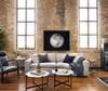 Plume Upholstered Block Arm Pewter Grey Sofa
