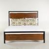 Live Edge Solid Wood & Iron Queen Platform Bed