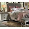 Belgian Cottage Carved Upholstered Queen Size Panel Bed Frames