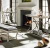 Belgian Cottage Serving Bar Cart - Antiqued White
