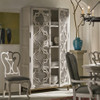 Belgian Cottage Ornate Display Storage Cabinets - Antiqued White