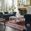 Belgian 3-Cushion Navy Velvet Tufted Chesterfield Sofas