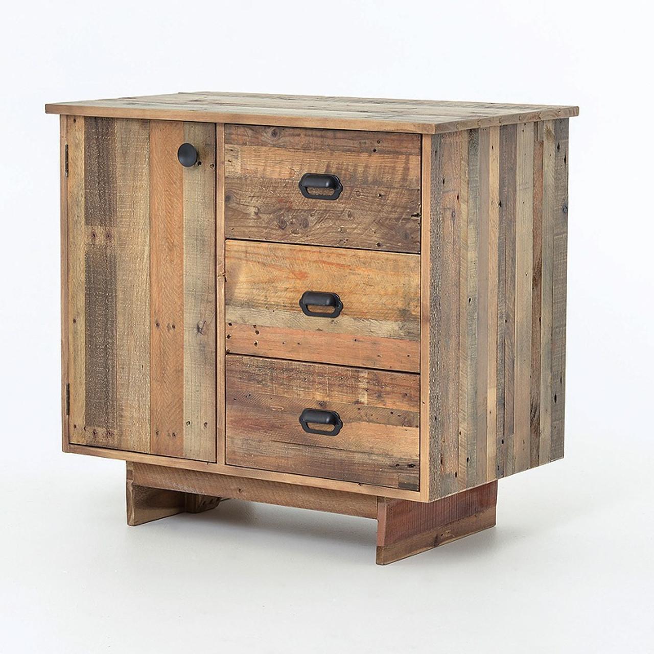 Angora Reclaimed Natural Wood Small Sideboard - Angora Reclaimed Natural Wood Small Sideboard Chest Zin Home