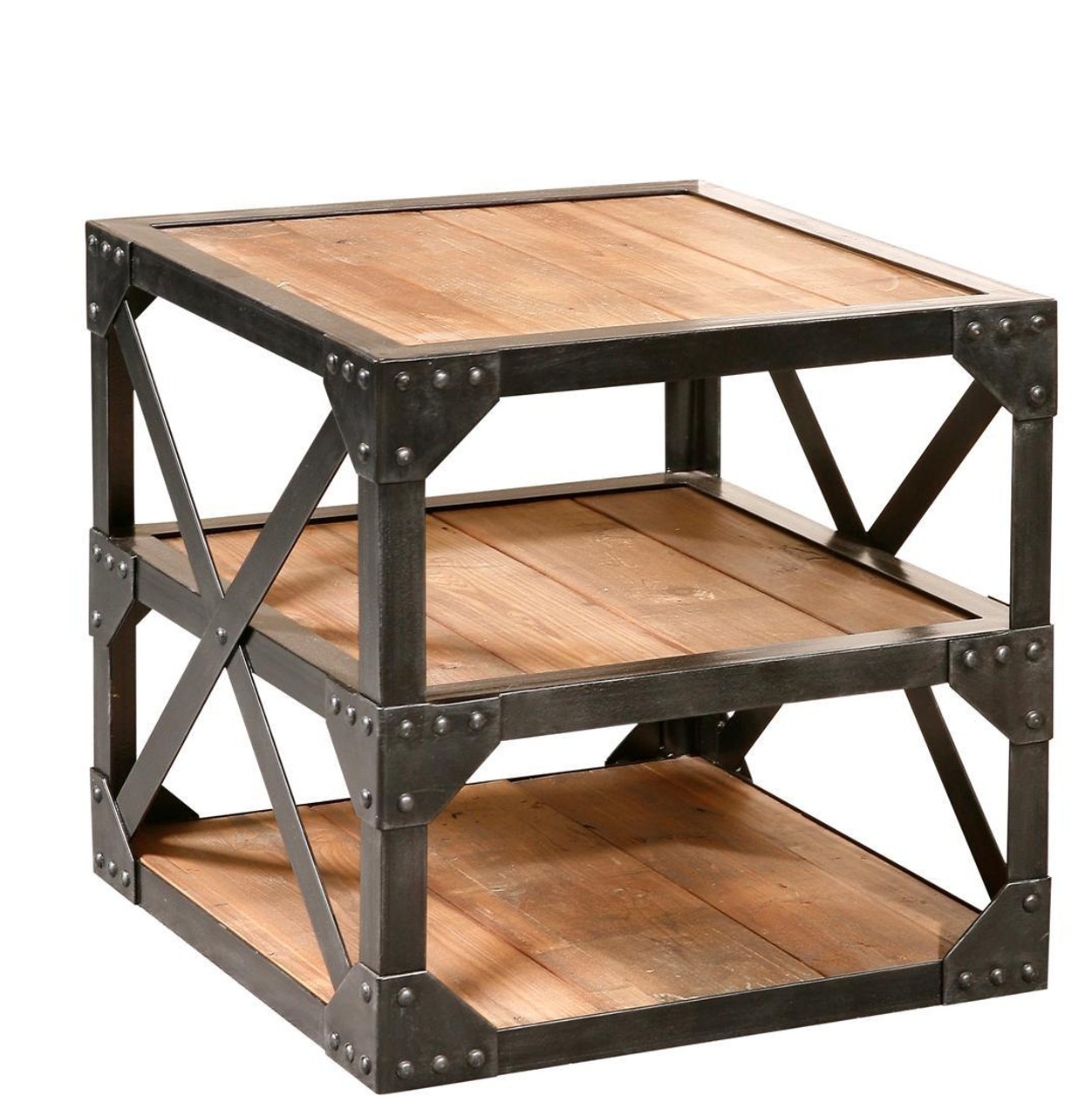 Industrial Recycled Side Table 22 Bleeker Reclaimed End