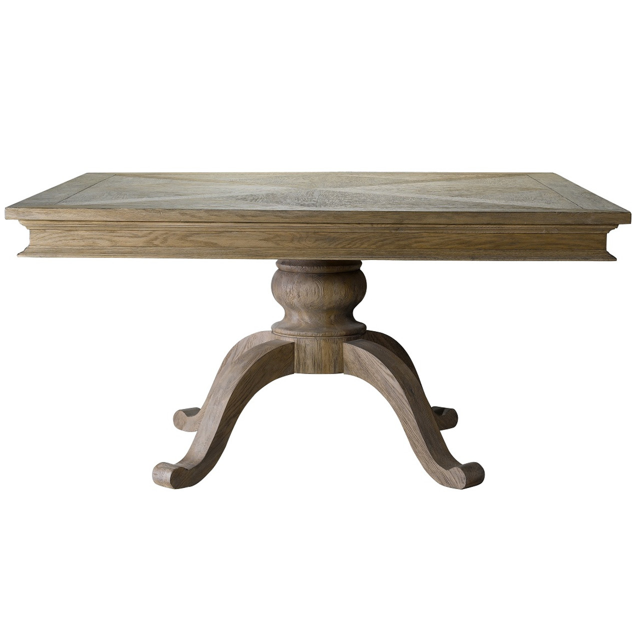 Geneva Oak Wood Square Pedestal Dining Table 47"