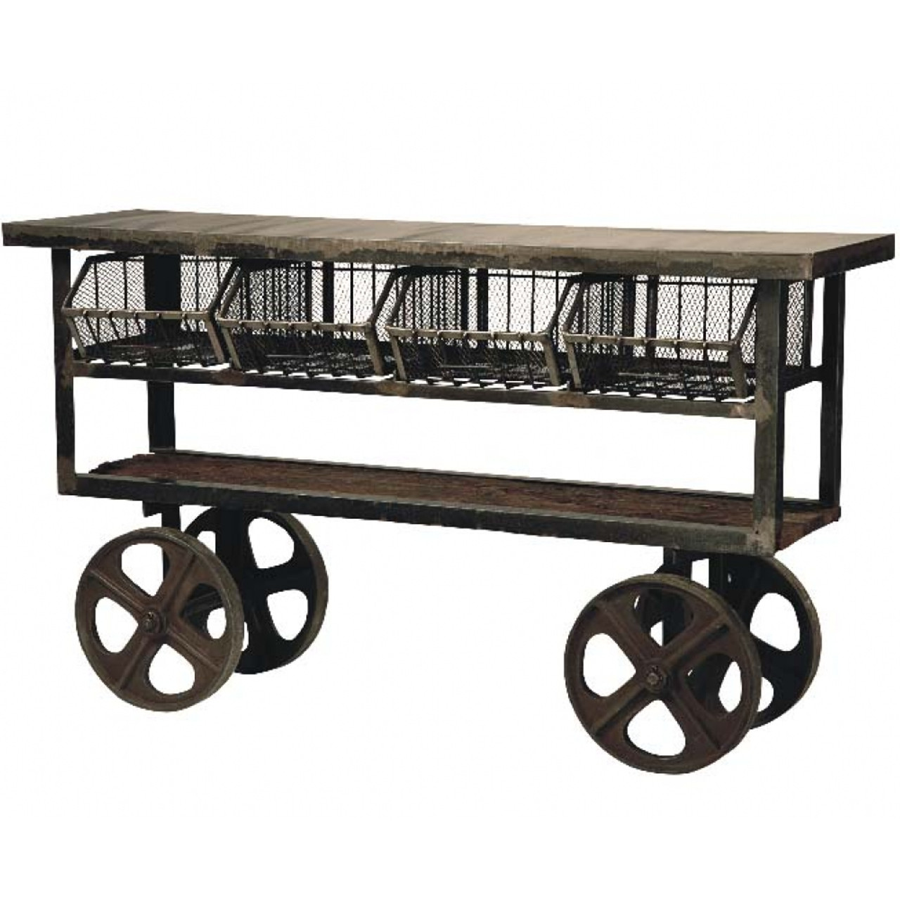 Vintage Kitchen Island Industrial Moving Rolling Cart: Industrial Rolling Kitchen Cart