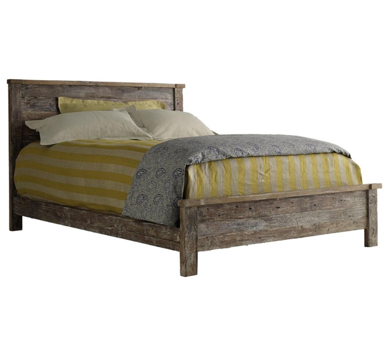 Rustic Wood King Bed Part - 42: Hampton Rustic Teak Wood California King Bed Frame