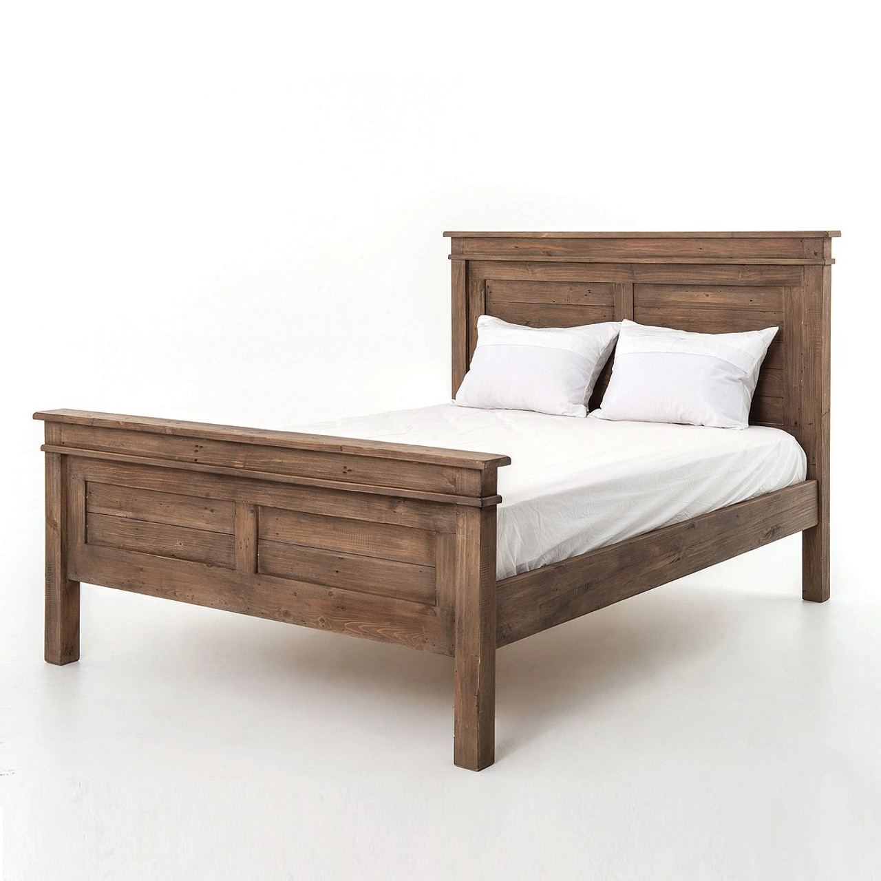 sierra reclaimed wood king size platform bed zin home. Black Bedroom Furniture Sets. Home Design Ideas