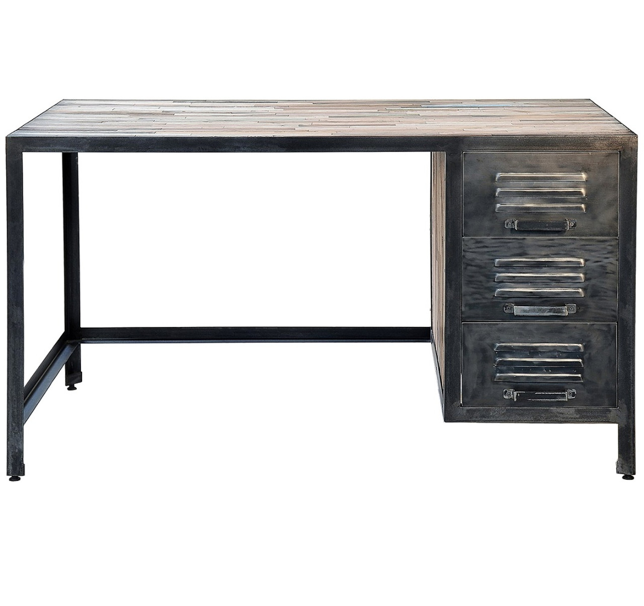 Spike Industrial 3 Drawer Desk Zin Home