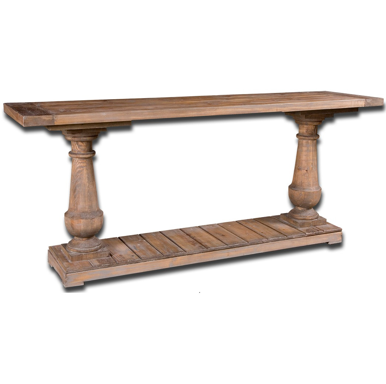 Salvaged solid wood rustic console table 71 zin home for Sofa table 48 inches