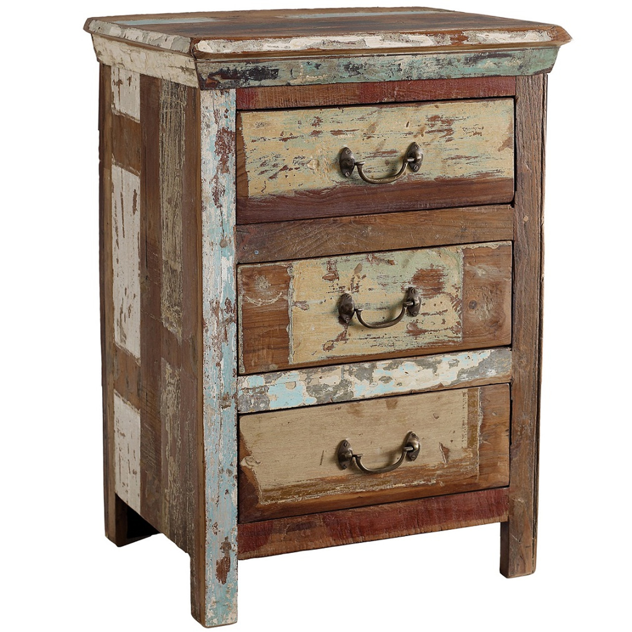 Amazing Shabby Chic 3 Drawer Side Table