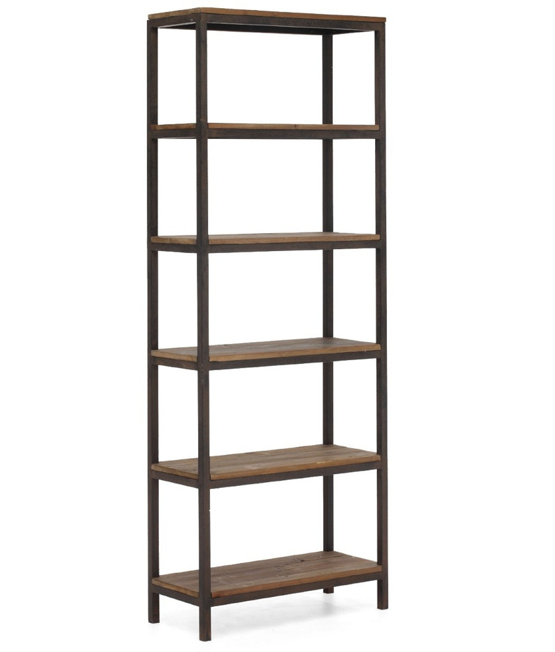 Civic Wood and Metal Bookshelf - Civic Wood And Metal Bookshelf Zin Home
