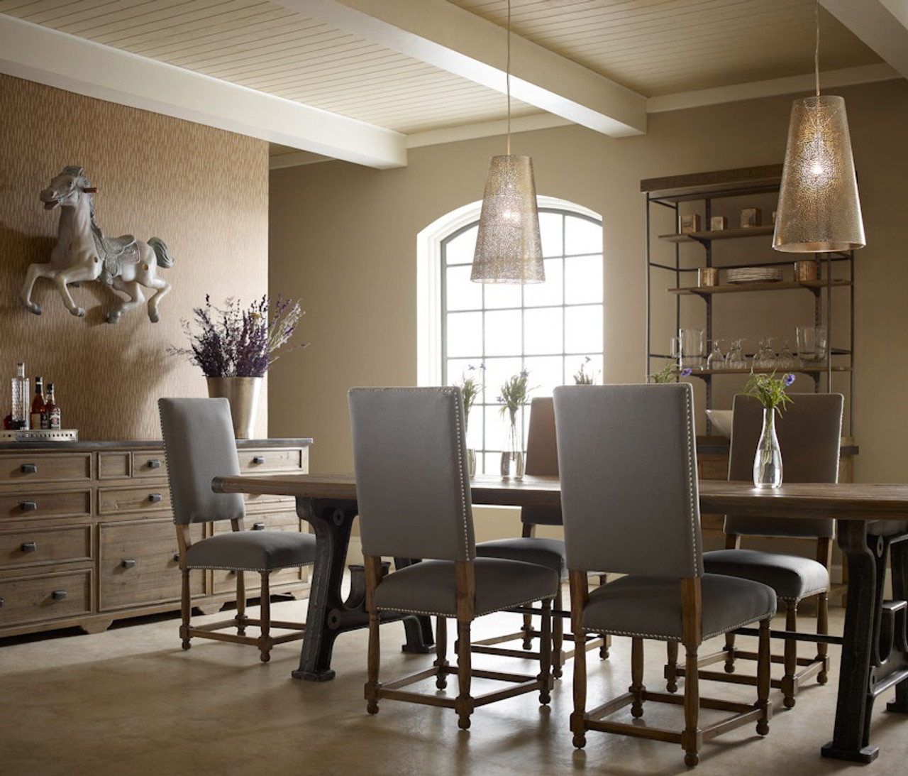 Barnwood Industrial Dining Room Table 86