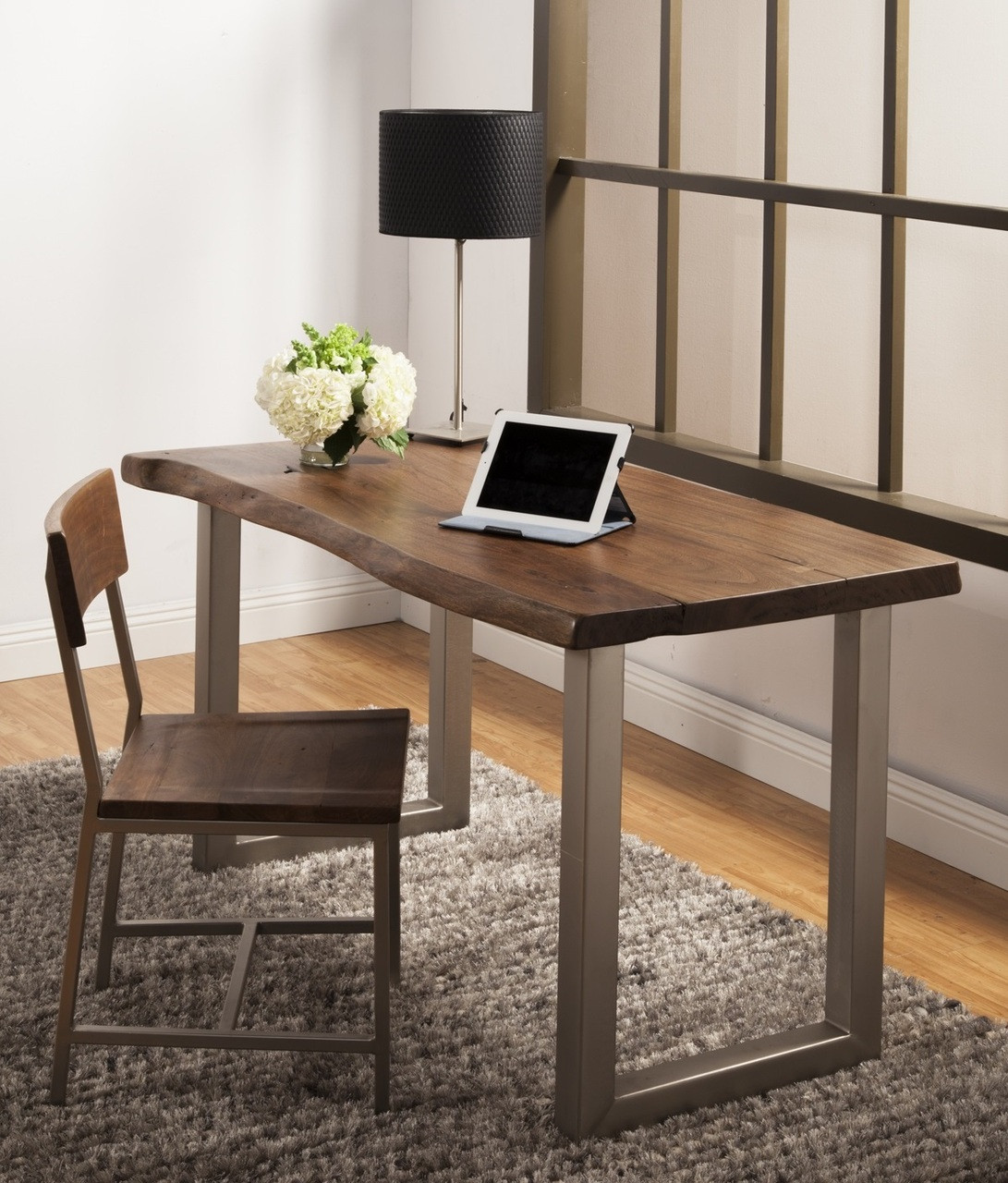 Montana solid wood metal leg desk zin home