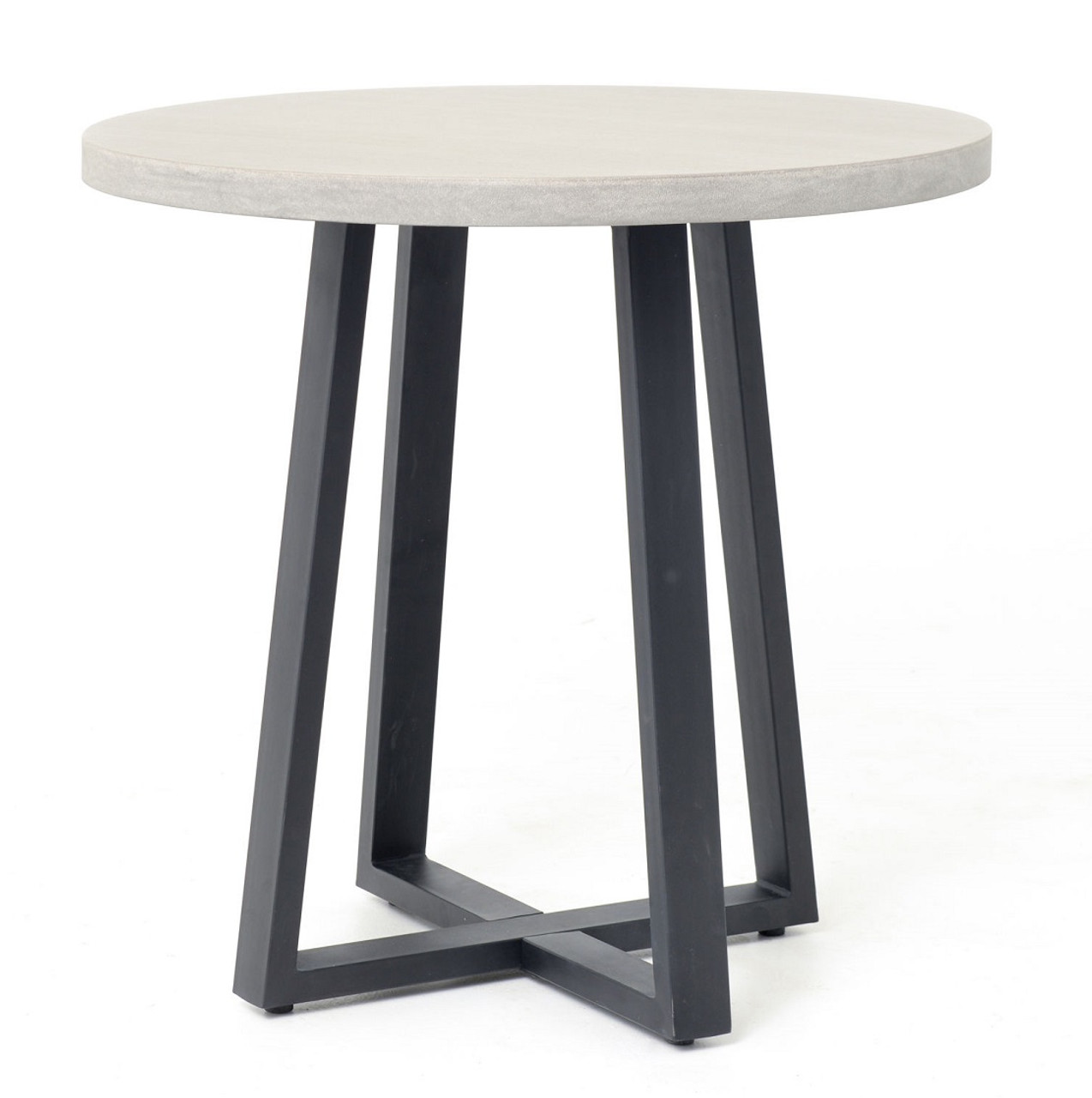 masonry concrete 32 bistro round dining table zin home. Black Bedroom Furniture Sets. Home Design Ideas