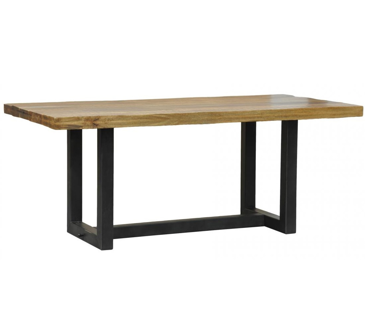 Restoration metal wood quot dining table zin home