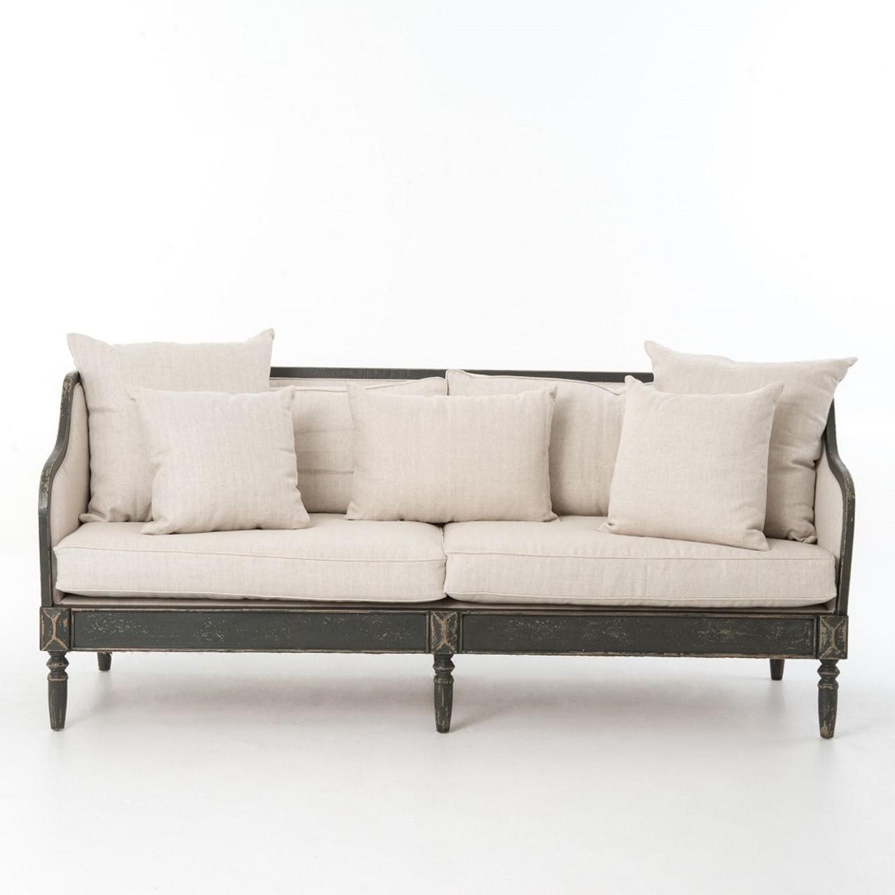 Van Thiel Baroness Josephina s Linen Upholstered Sofa