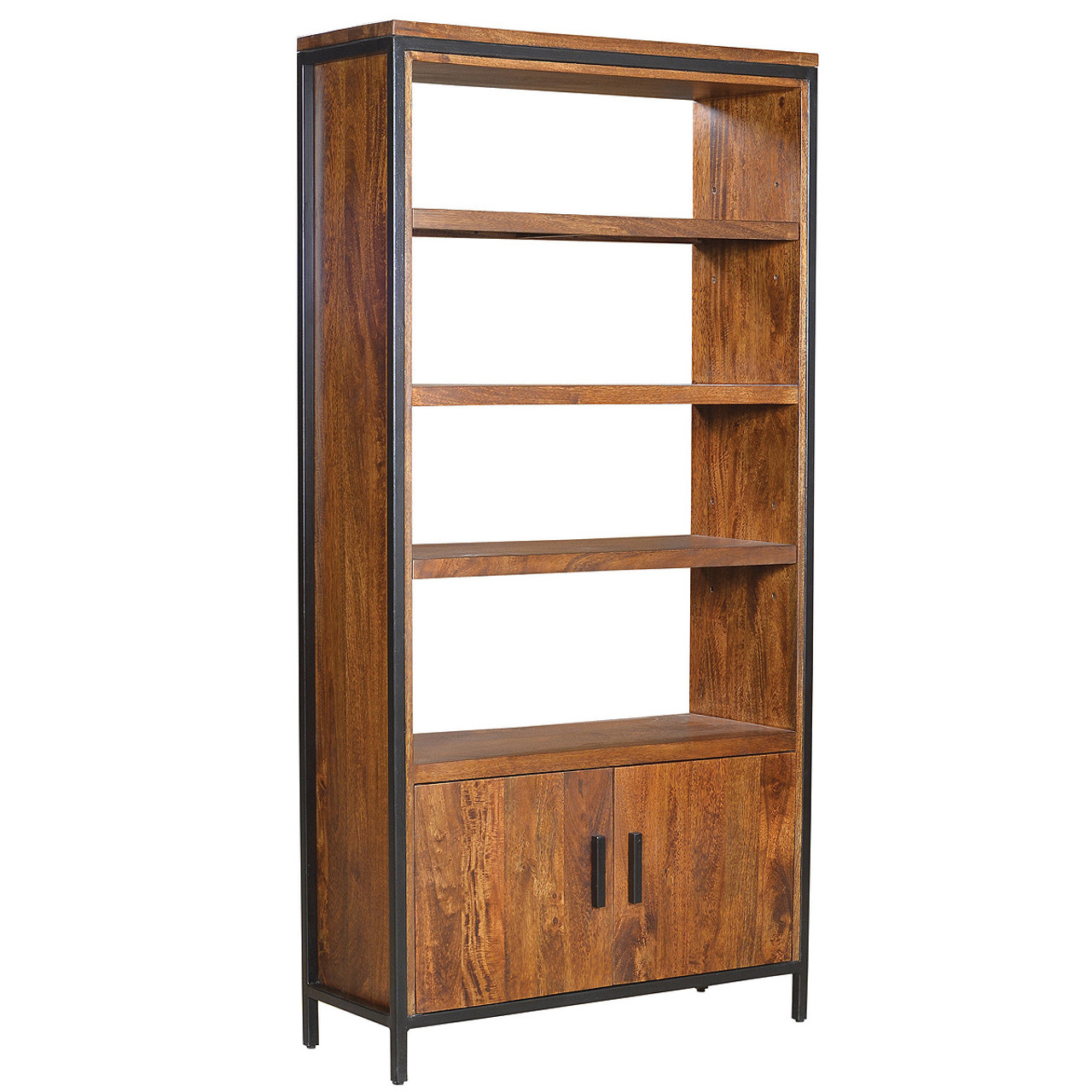 Timber Bookcase: Foundry Parson Metal + Wood Bookcase Cabinet
