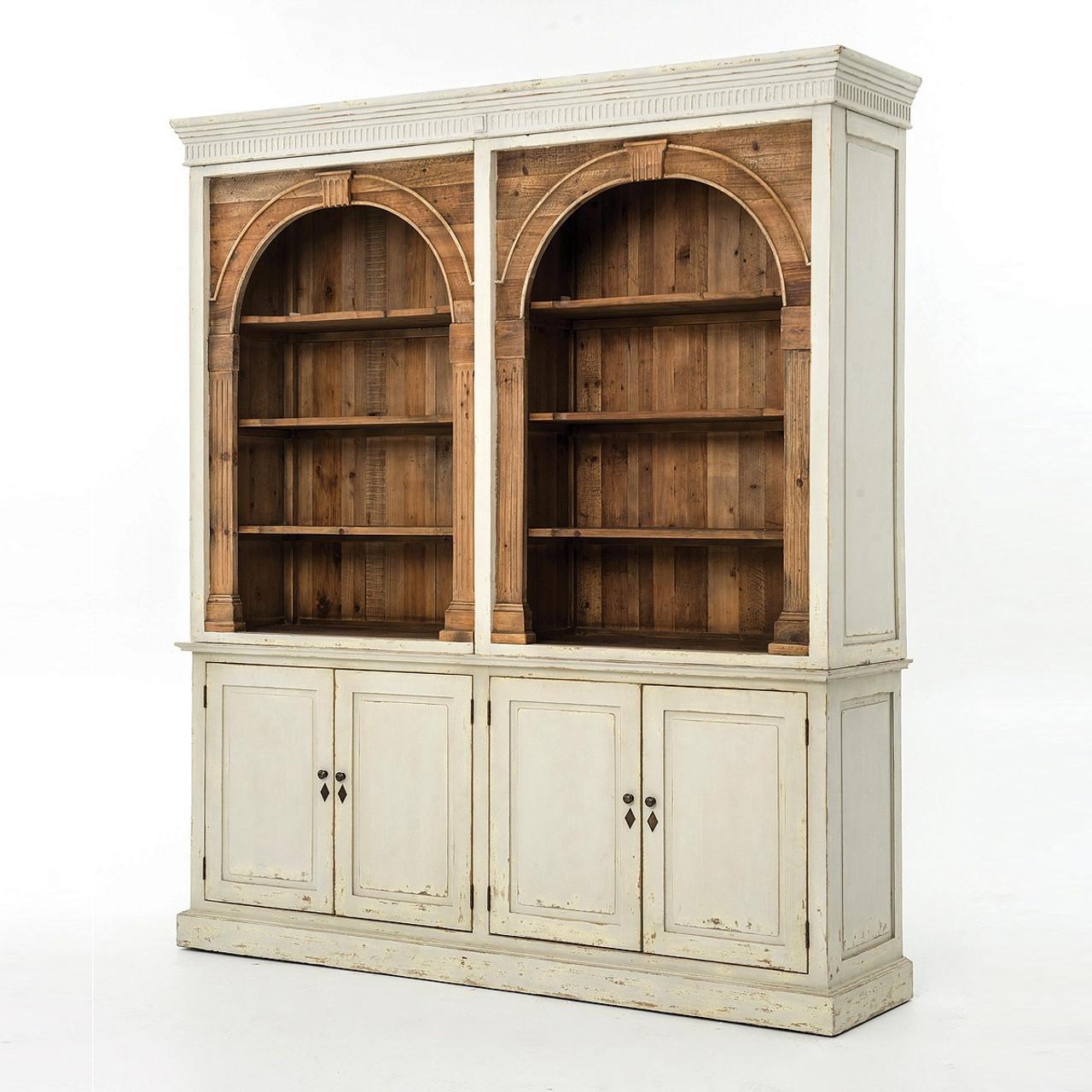Swedish Grey Rustic Reclaimed Wood China Cabinet Hutch | Zin Home