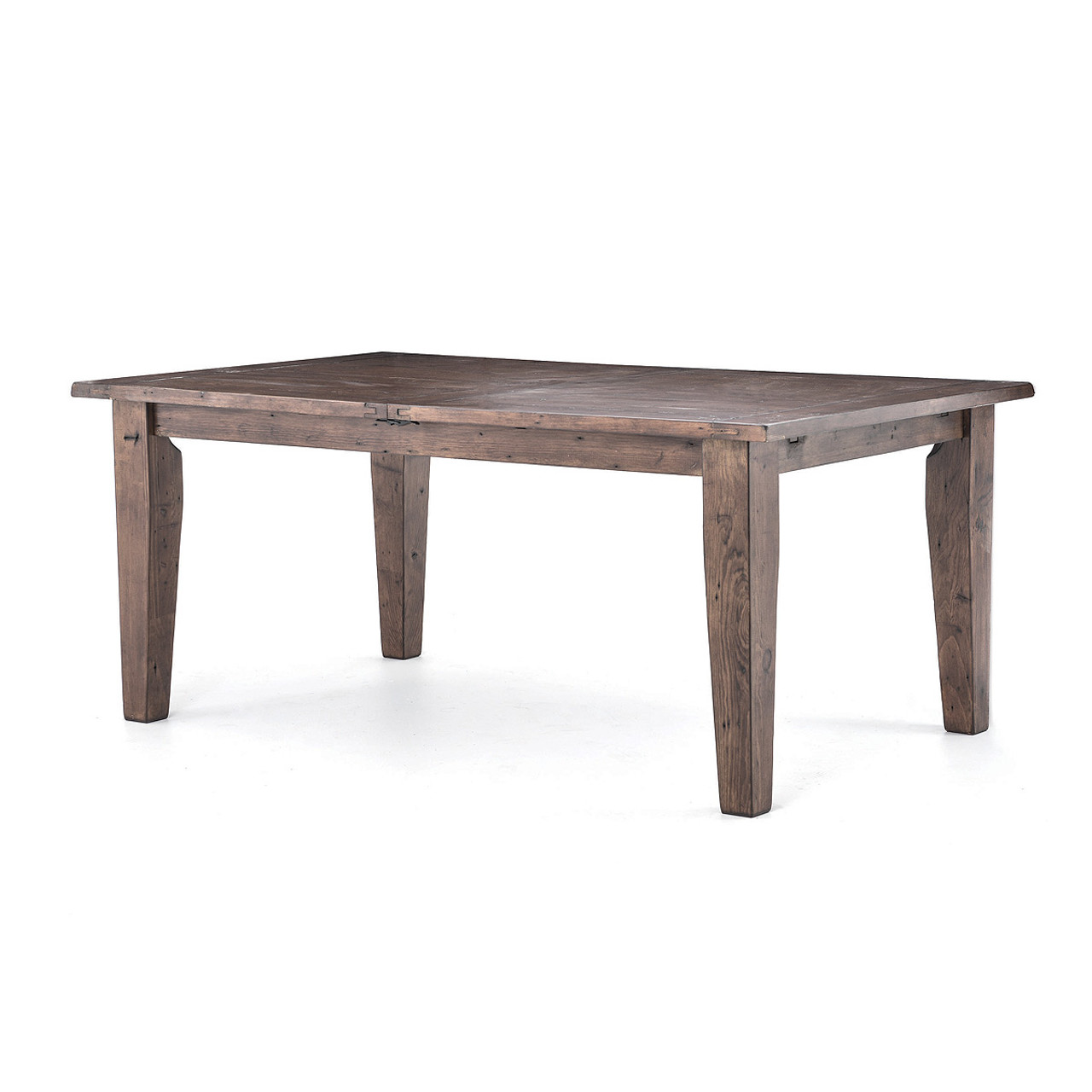 Coastal reclaimed wood extension dining table 96 zin home for Extension dining table