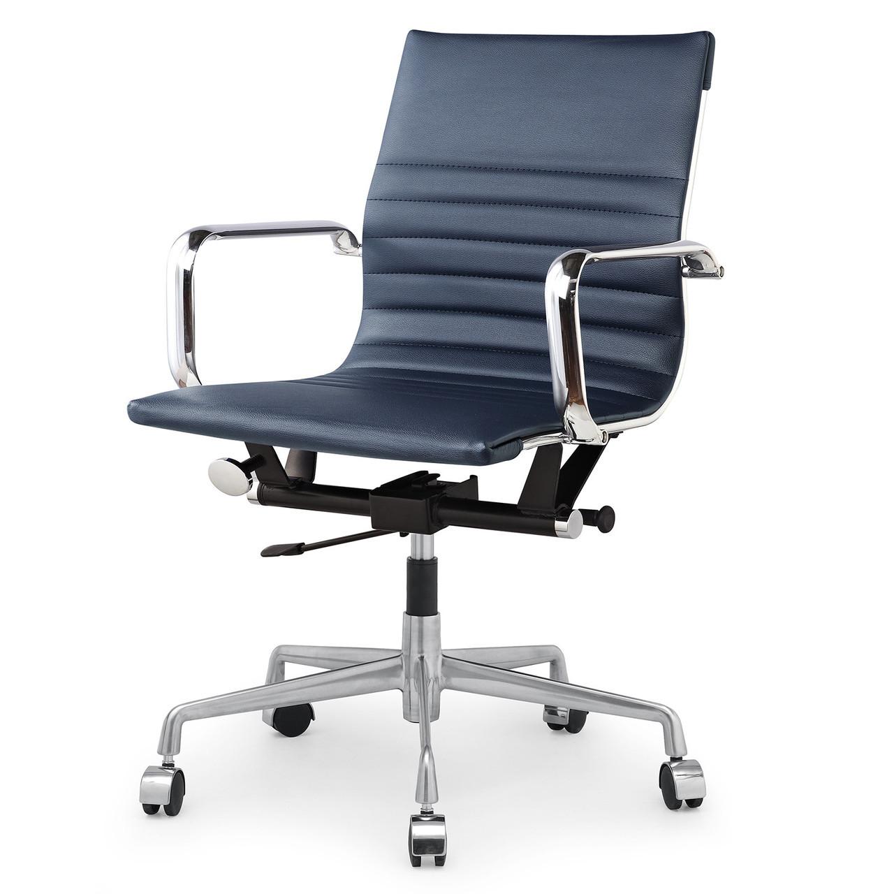 navy blue vegan leather m348 modern office chairs zin home. Black Bedroom Furniture Sets. Home Design Ideas