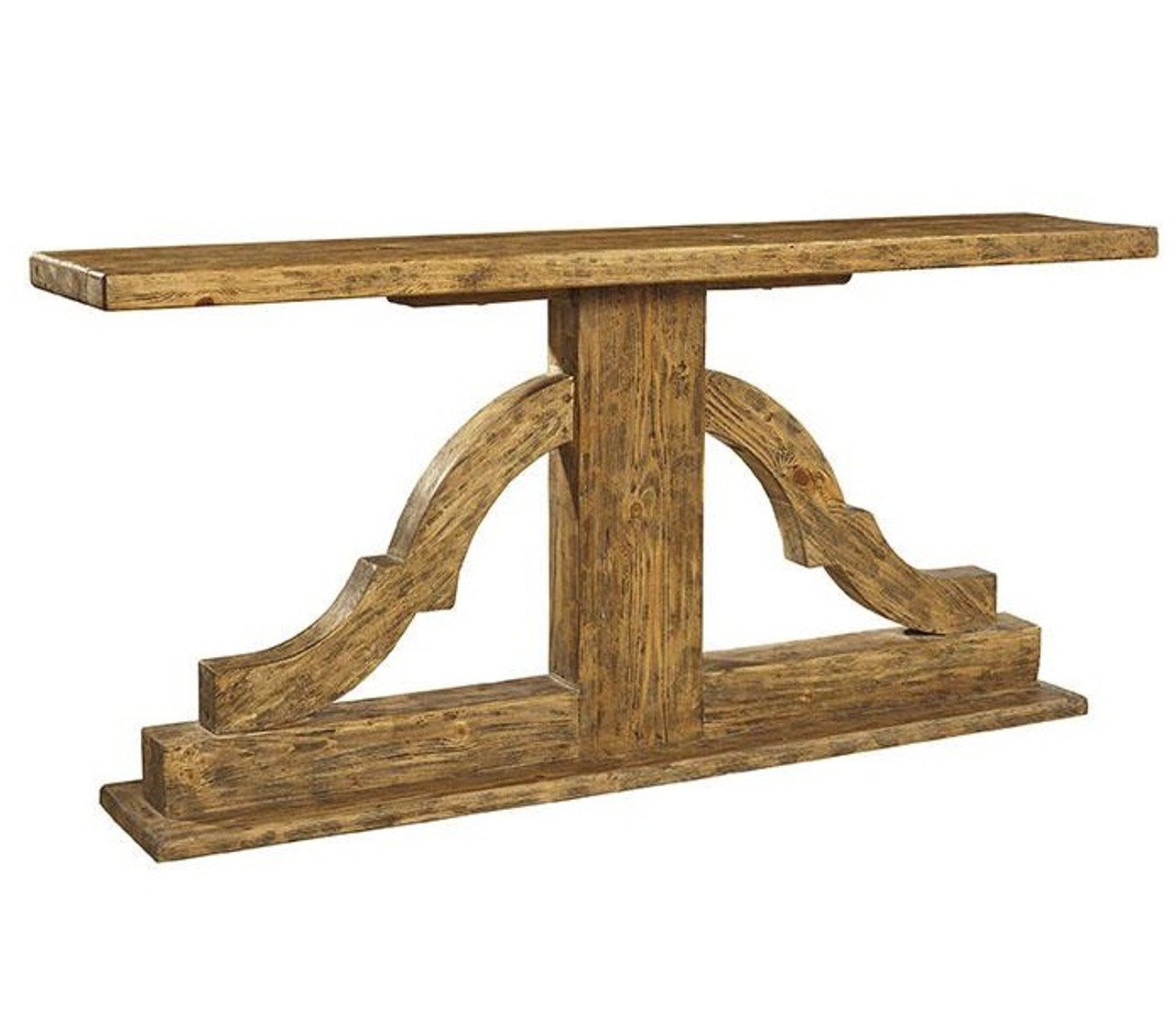 Delightful Bracket Solid Wood Console Table