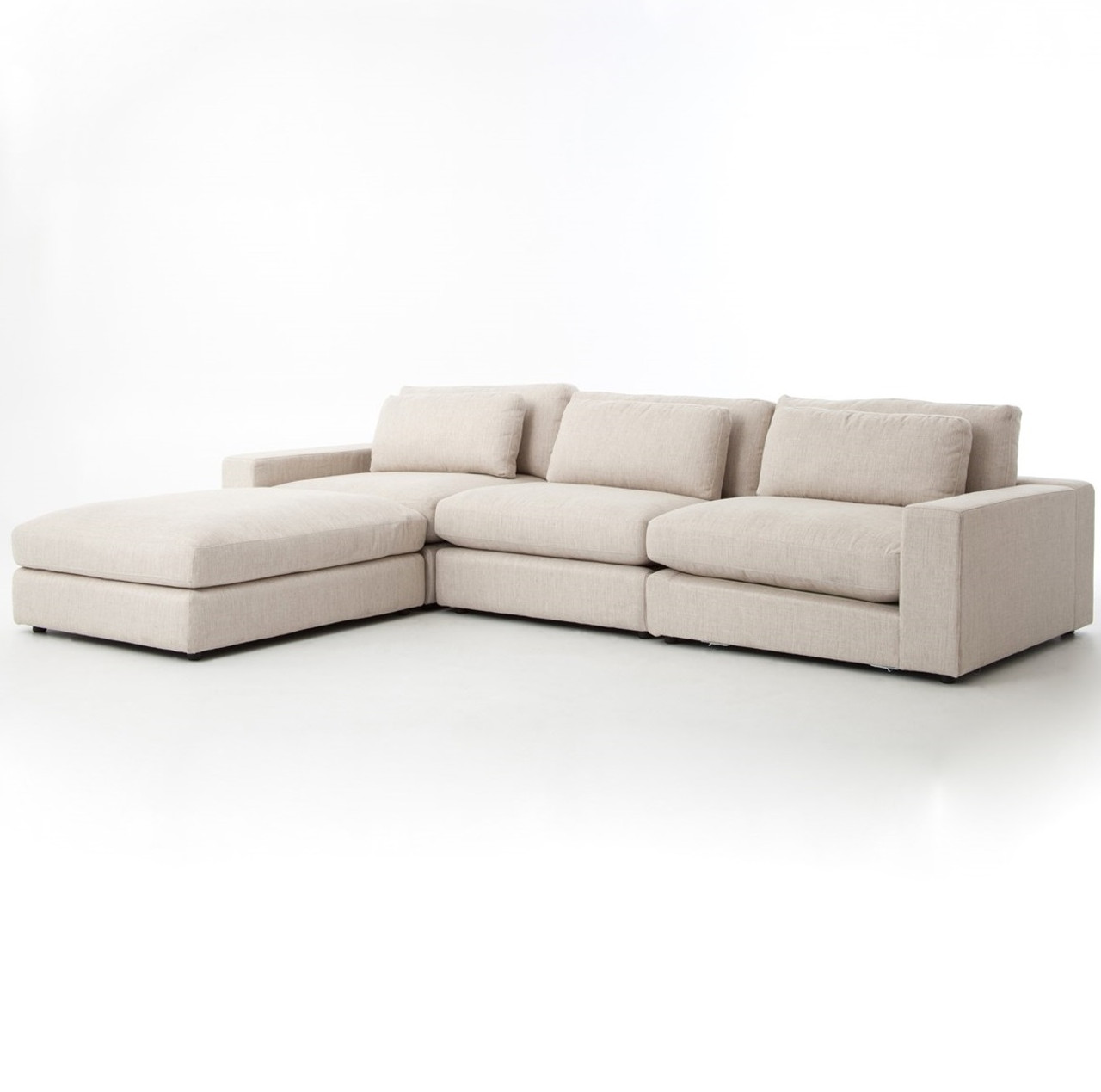 Bloor Beige Contemporary 4 Piece Sectional Sofa