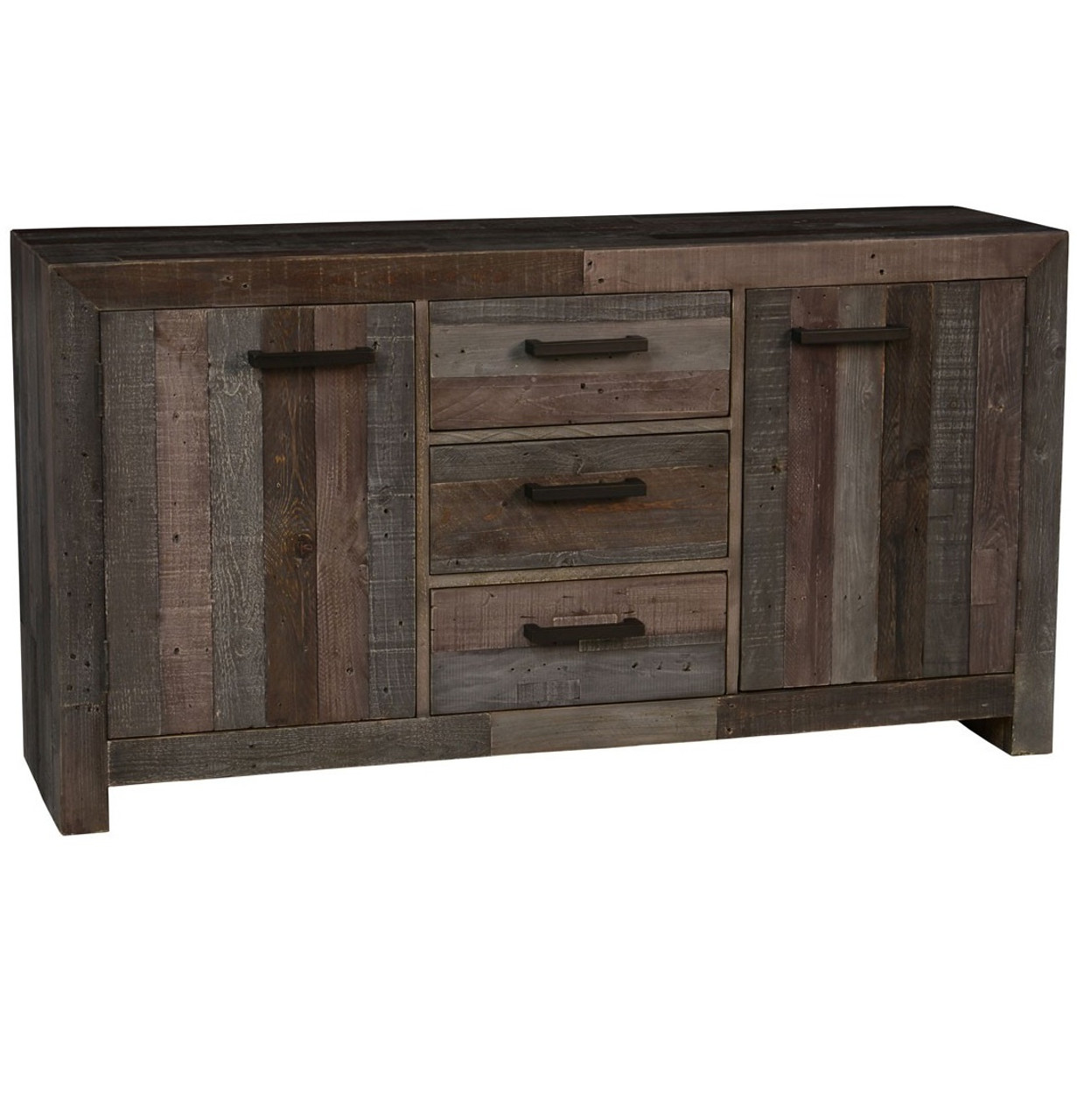Wood Elevation For Buffet : Angora storm reclaimed wood buffet sideboard zin home