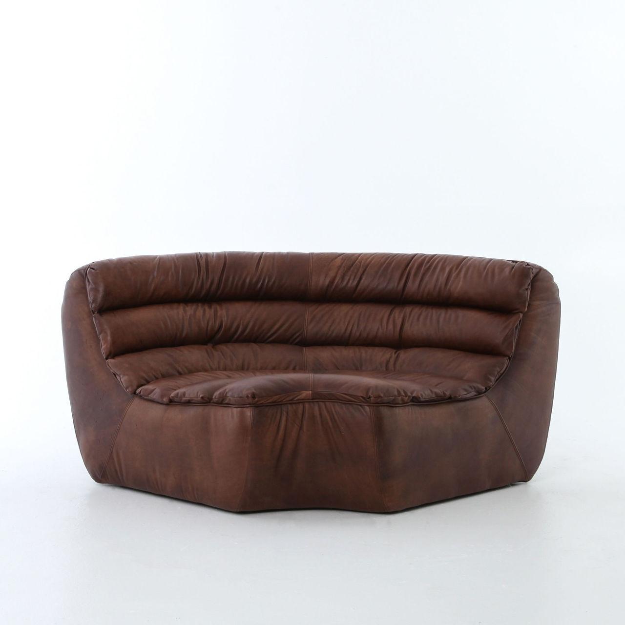 Leather Armless Sofa Knoll In Original