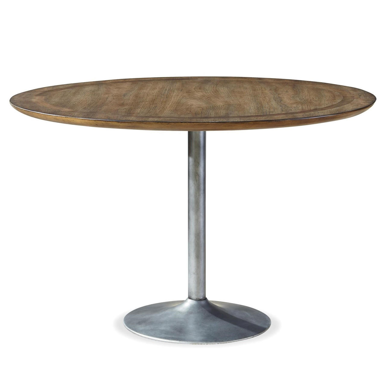 Maison Industrial Metal Pedestal Round Dining Table 48 Zin Home