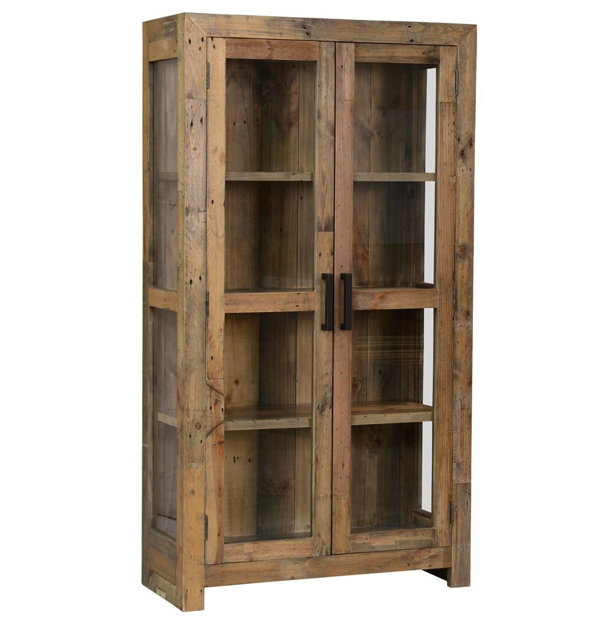 Angora Natural Reclaimed Wood Curio Cabinet