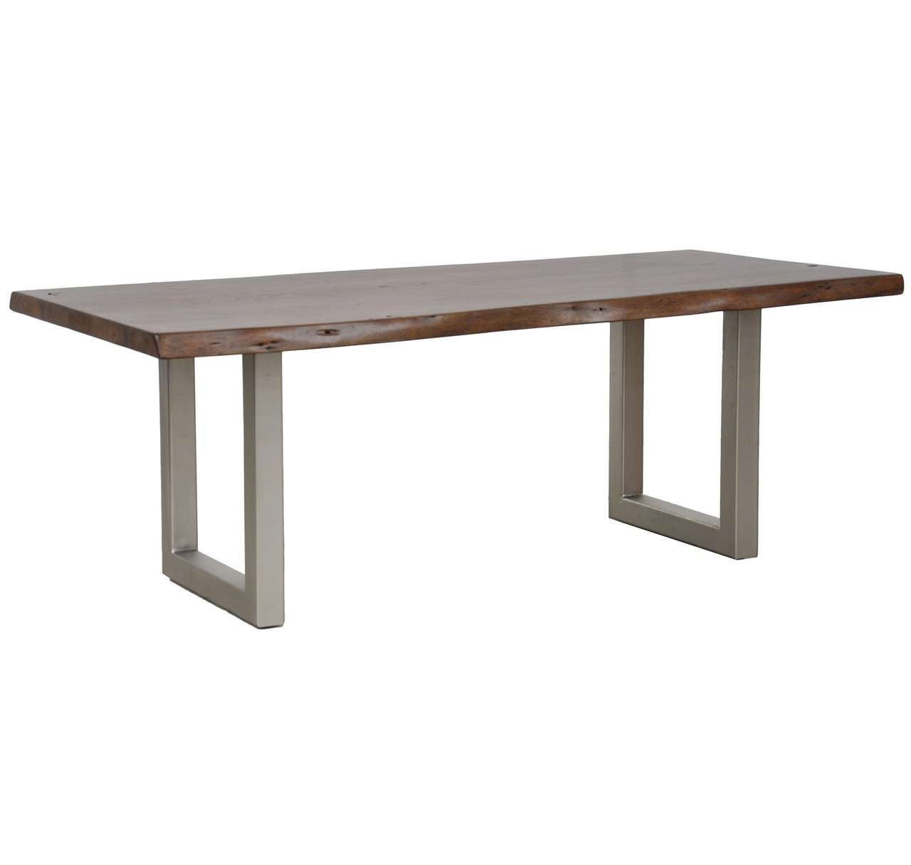 """Metal And Wood Dining Table: Montana Solid Wood Metal Leg Dining Table 82"""""""