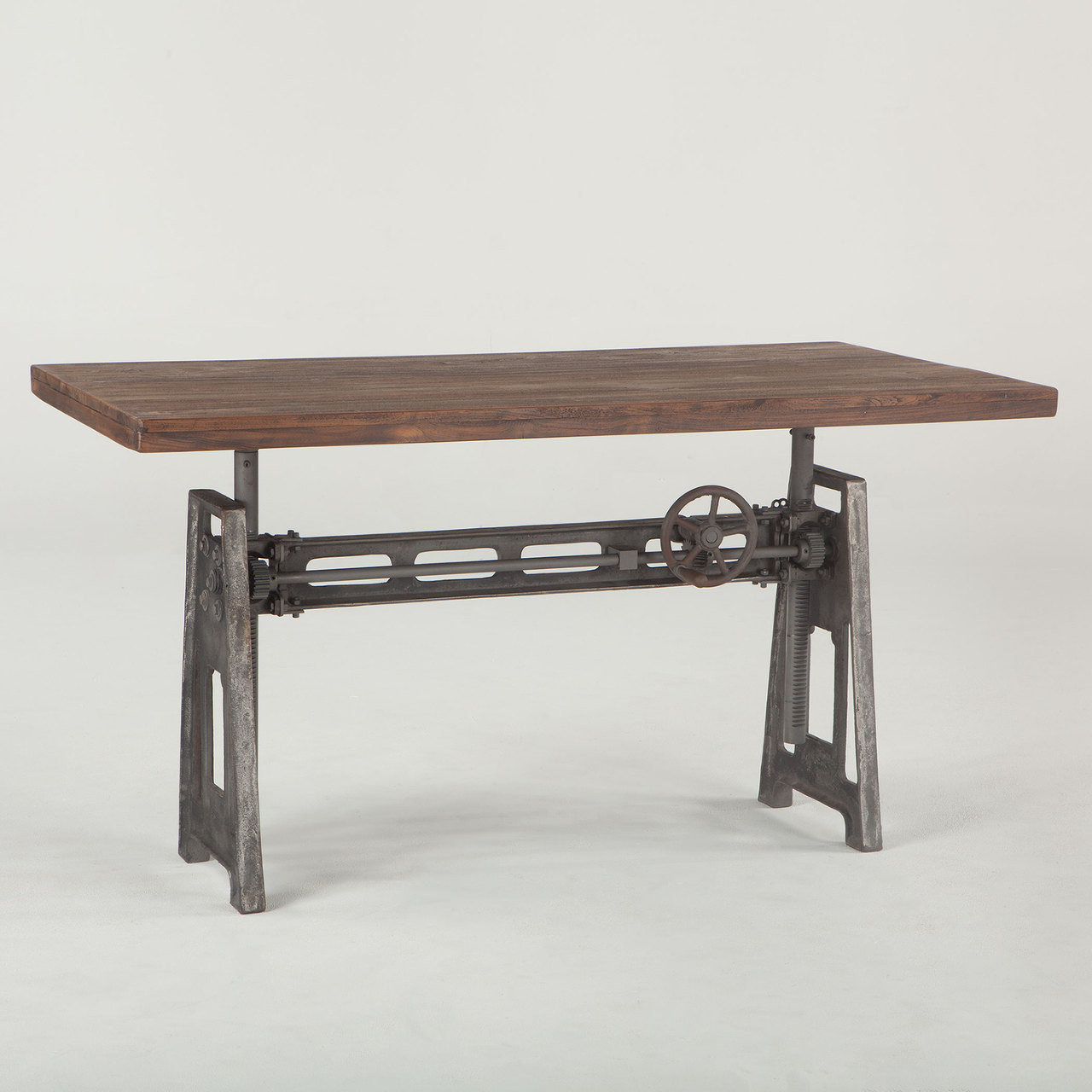 Industrial Crank Table French Industrial Loft Metal And Wood Crank Adjustable Table  Zin .