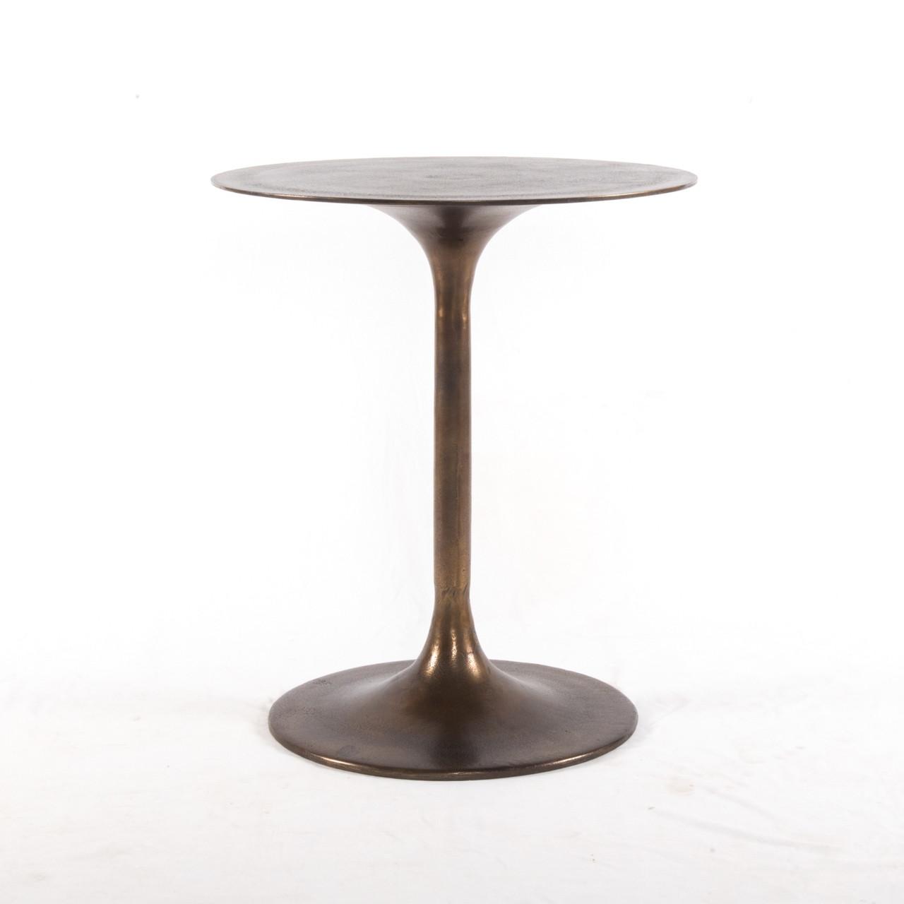 Tulip Side Table   Antique Rust