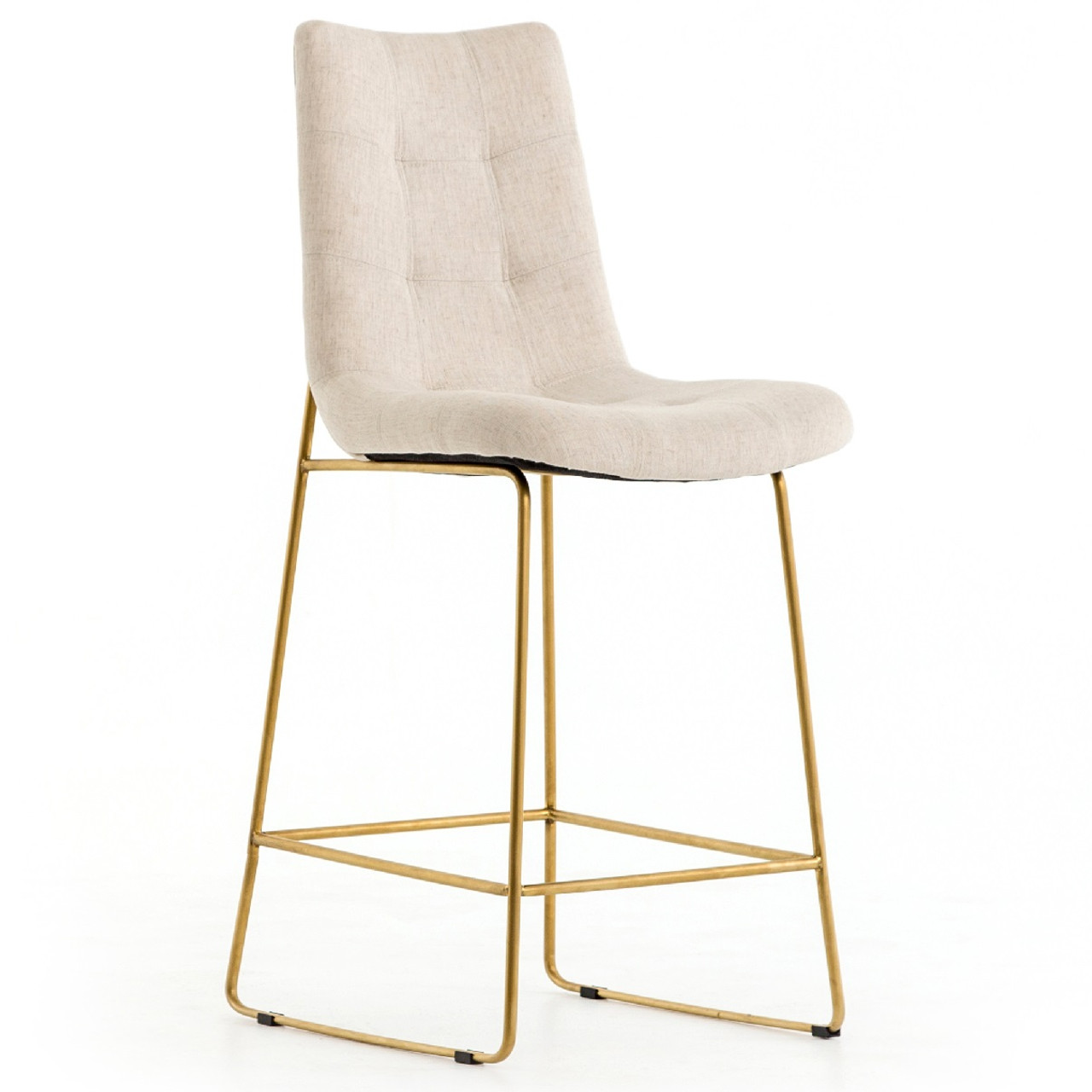 Camile Gold Iron Leg Counter Stool Savile Flax Zin Home