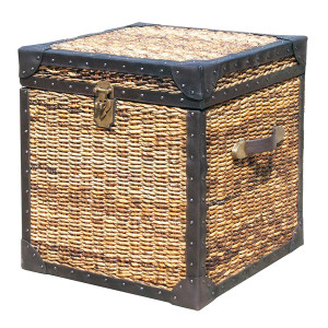 Seagrass Woven Trunk Side Table