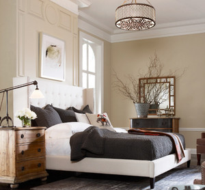 Metropolitan Wingback Upholstered King Platform Bed