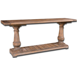 """Salvaged Solid Wood Rustic Console Table 71"""""""
