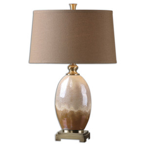 Eadric Antiqued Gold Ceramic Table Lamp