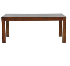 """Hampton Solid Wood Dining Table 72""""-Brown"""