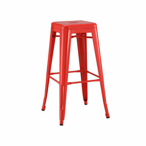 French Industrial Metal Bar Stools (Set of 4)