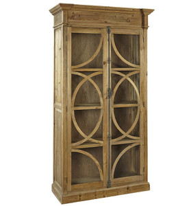 Kaleidoscope French Country Weathered Wood Display Cabinet