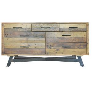 Farmhouse 7 Drawer Reclaimed Wood Dresser