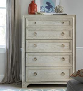 California Rustic White Oak 5 Drawer Tall Chest