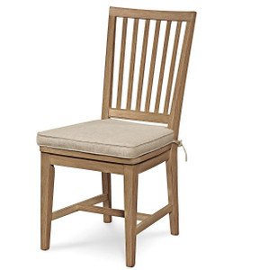 Coastal Beach Gray Dining Side Chair with Cushion